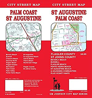 St Augustine Florida Palm Coast Street Map Gm Johnson City Map