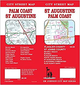 St Augustine / Palm Coast, Florida Street Map: GM Johnson ... on town of palm coast florida, map of naples beach hotel, map of jacksonville beach, map of space coast florida, map of st. augustine beach, map of north east coast, map of palm coast fl area, weather palm coast florida, map of east coast beaches, map of northern california coast, palm springs florida, map of central california coast, palm beach florida, map of florida gulf coast,