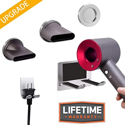 Amazon com: Tolhoom Hair-Dryer-Holder-Wall-Mount-Compatible