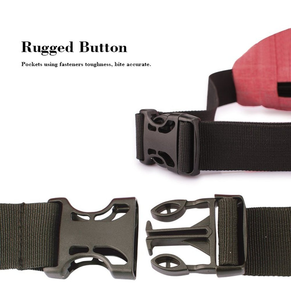 AOBRITON Casual Fanny Bag Shoulder Waist Bag Pack Travel Money Phone Belt Bag Handbag for Running Hiking Cycling