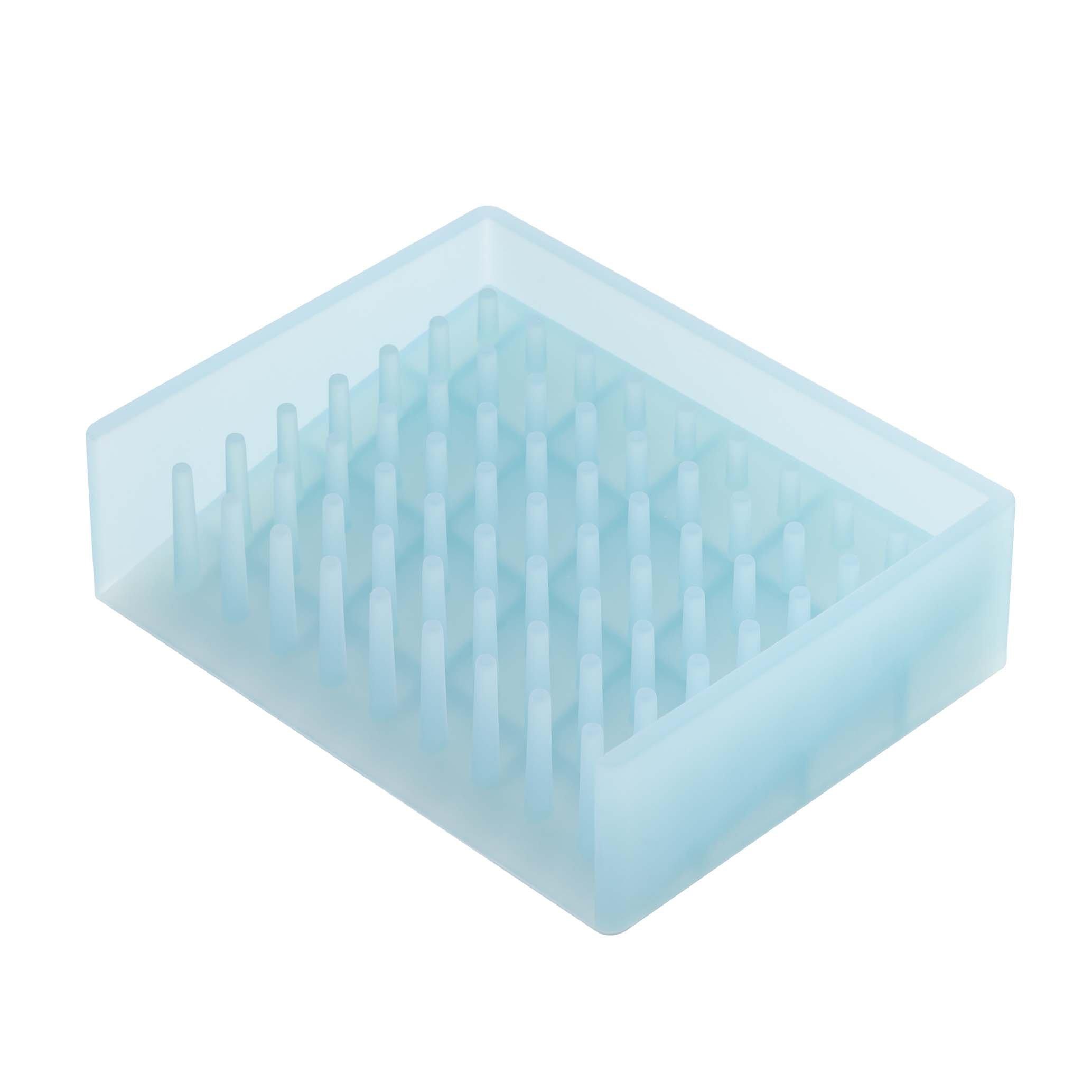YAMAZAKI home 2994 Float Self Draining Soap Tray, Blue
