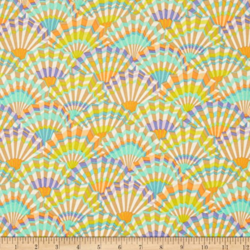 - FreeSpirit Fabrics Kaffe Fassett Paper Fans Vintage Fabric by The Yard,