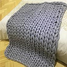 shengruhua Chunky Arm Knitting Giant Yarn Throw - wrap Knit Blanket Cozy Throw Super Big Bulky Arm Knitting Home Decor