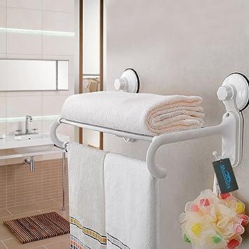 madoats baño toallero de barra con ventosa toalla rack Organizador Toalla de acero inoxidable soporte de