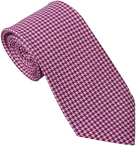Handmade 7 Fold Silk Tie Houndstooth Design (19 Color Options) by Sebastien Grey