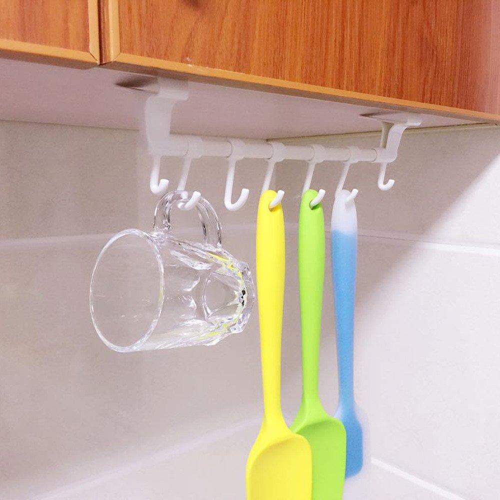 Quaanti Toilet Paper Holder Bathroom Plastic Kitchen Towel Facial Rack Hanging Door Hanger,Waterproof Strong Adhesive,Wall Mounted Shelf Towel Rack Towel Shelf Towel Holder with Hooks (White)