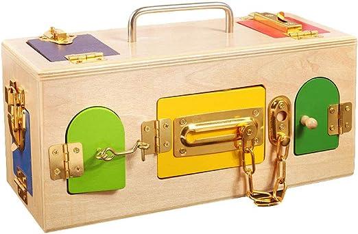 stobok juego de madera Puzzle cerraduras juguete de bloqueo montessori candado juguete para niños: Amazon.es: Hogar