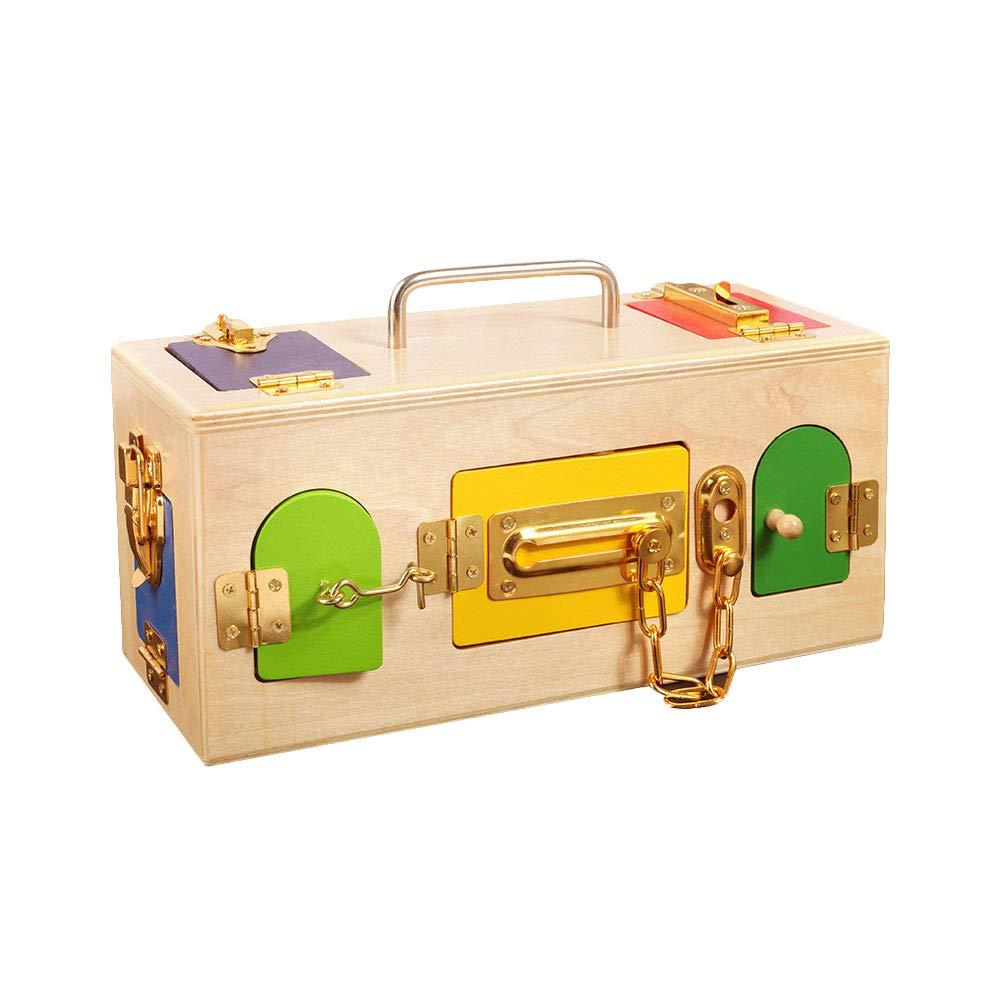 STOBOK Montessori - Cerradura Infantil de Madera, Caja de Bloqueo ...