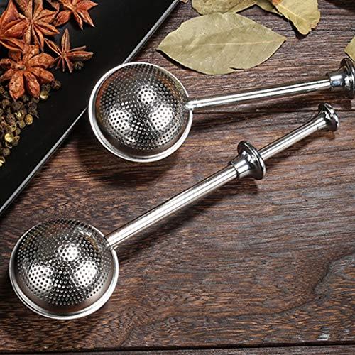 Rigel7 2pcs Mesh Snap Ball Loose Leaf Tea Infuser Stainless Steel Tea Ball Teaspoon Filter (2Pcs) ()