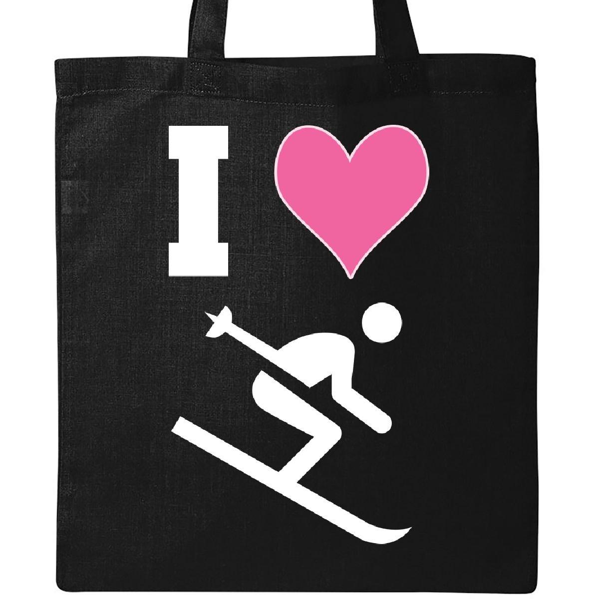 Inktastic - I Love Skiing Cute Sports Tote Bag Black 2e7fc