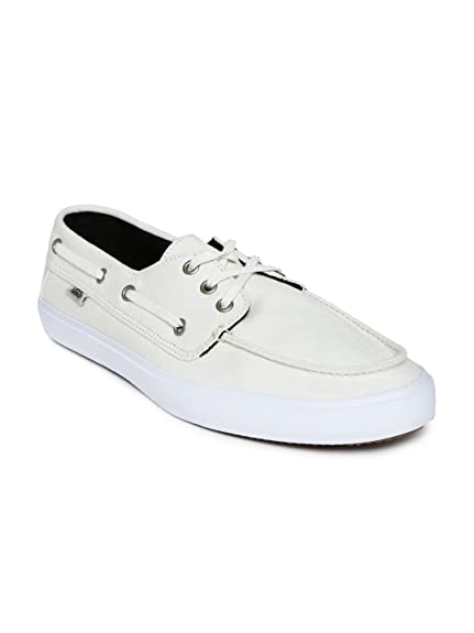 2261e471ba Vans Men Cream-Coloured Boat Shoes (8UK)  Buy Online at Low Prices ...