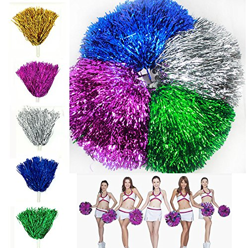 Merssavo Pom neueste Poms Dance Handheld Cheerleader Pom Lila Cheer Cheerleading 1x 7zwq7ar