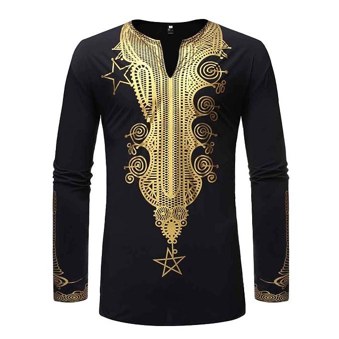 Amazon.com: MODOQO - Camiseta para hombre Dashiki africana ...