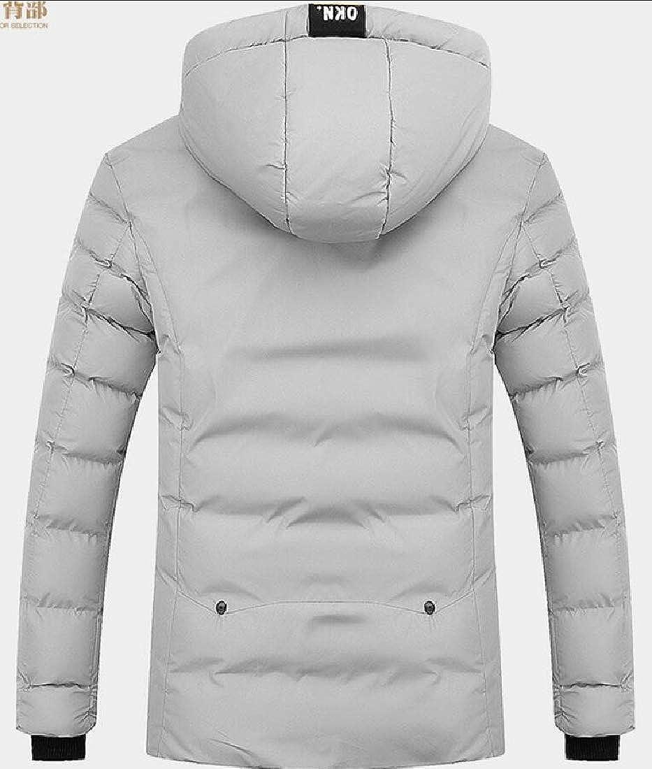 Generic Mens Plus Size Thicken Winter Warm Zip Up Hooded Down Jacket Coat