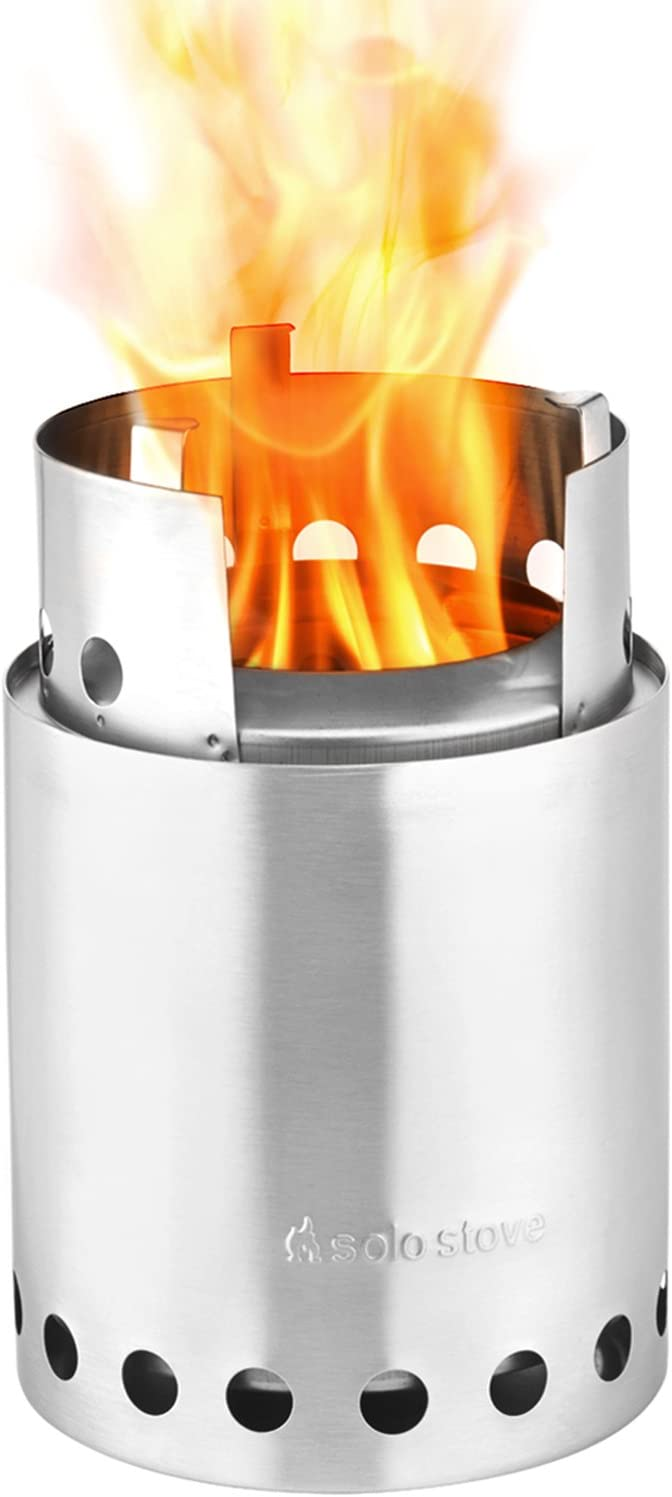 Solo Stove Titan – 2-4 Person Lightweight Wood Burning Stove. Compact Camp Stove Kit for Backpacking, Camping, Survival. Burns Twigs – No Batteries or Liquid Fuel Canisters Needed.