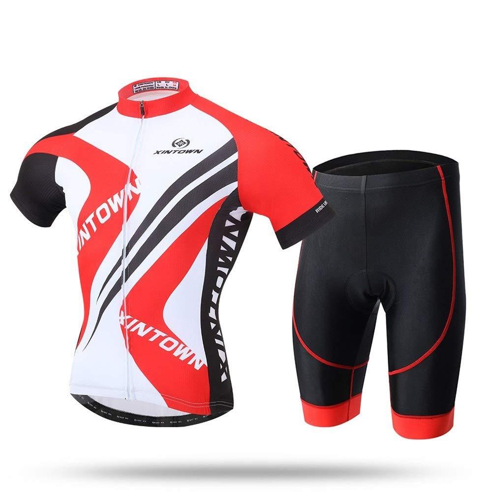 Bike Jersey Sommer Schnelltrocknende Bekleidung Fahrradbekleidung Kurzarm Reitanzug Sport Wanderbekleidung Fahrrad Trikot LPLHJD