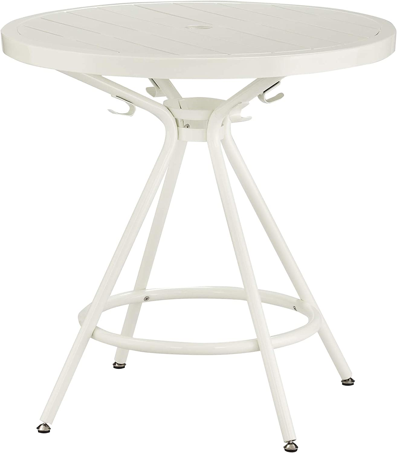 """Safco Products CoGo Steel Indoor/Outdoor Table, 30"""" Round, White"""