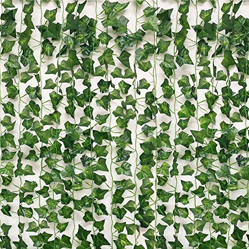 See Greeen 98 feet (14 Pack) Artificial Garlands for Baby Shower, Birthday, Classroom, Table Runner and Safari Jungle Theme Party