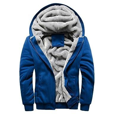Outwear Reißverschluss Sweatshirt Warm Vlies Herren Winter Kapuzenpullover Manadlian Männer Jacke Mantel q3R4jSc5AL
