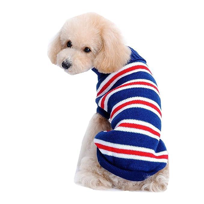 Ropa para Mascotas,Dragon868 Moda Rayado Caliente de Punto de Mascotas Perros suéteres: Amazon.es: Ropa y accesorios