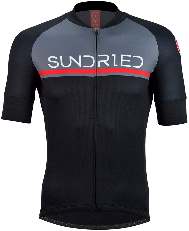 Sundried La Camisa de Manga Corta para Hombre Jersey de Ciclo Bici del Camino Superior de Bicicletas de montaña