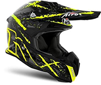 Airoh Terminator abierto visión Off Road Enduro Motocross casco – Carnage amarillo