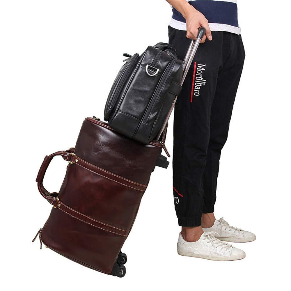 Black 42.5x14x31.5cm Briefcase GLJJQMY Mens Bag Business Bag Leather Briefcase Large Tote 17 Computer Bag