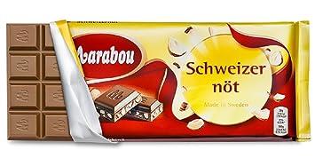 marabou schweizernöt kcal