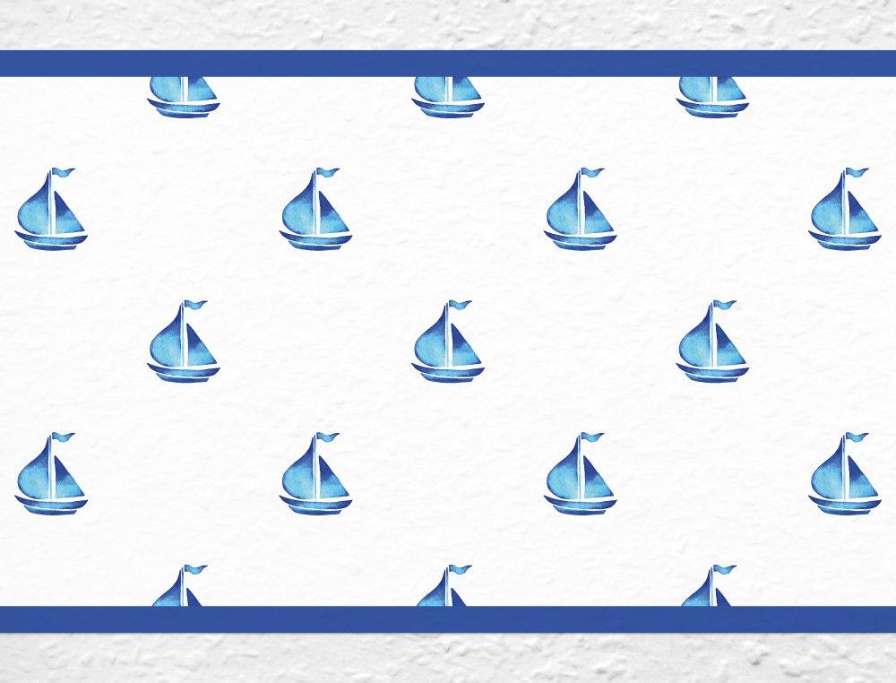 I-love-Wandtattoo Bordo autoadesivoNavi veliero Barche la Camera dei bambinistripes Carta da para