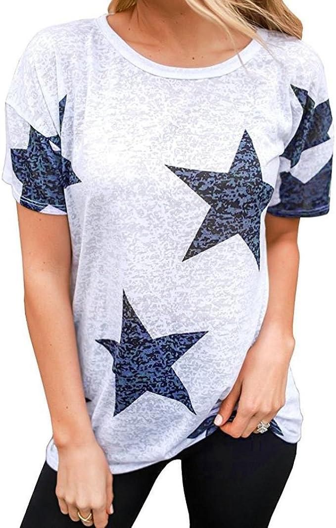 FAMILIZO Camisetas Mujer Verano, Blusa Mujer Elegante Camisetas Mujer Manga Corta Algodón Camiseta Mujer Camisetas Mujer Fiesta Camisetas Mujer Originales Camisetas Mujer Tallas Grandes: Amazon.es: Ropa y accesorios