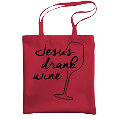 - JESUS DRANK WINE - christ christian god - Heavy Duty Tote Bag