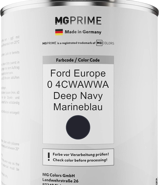 Mg Prime Autolack Dose Spritzfertig Für Ford Europe 0 4cwawwa Deep Navy Marineblau Basislack 1 0 Liter 1000ml Auto