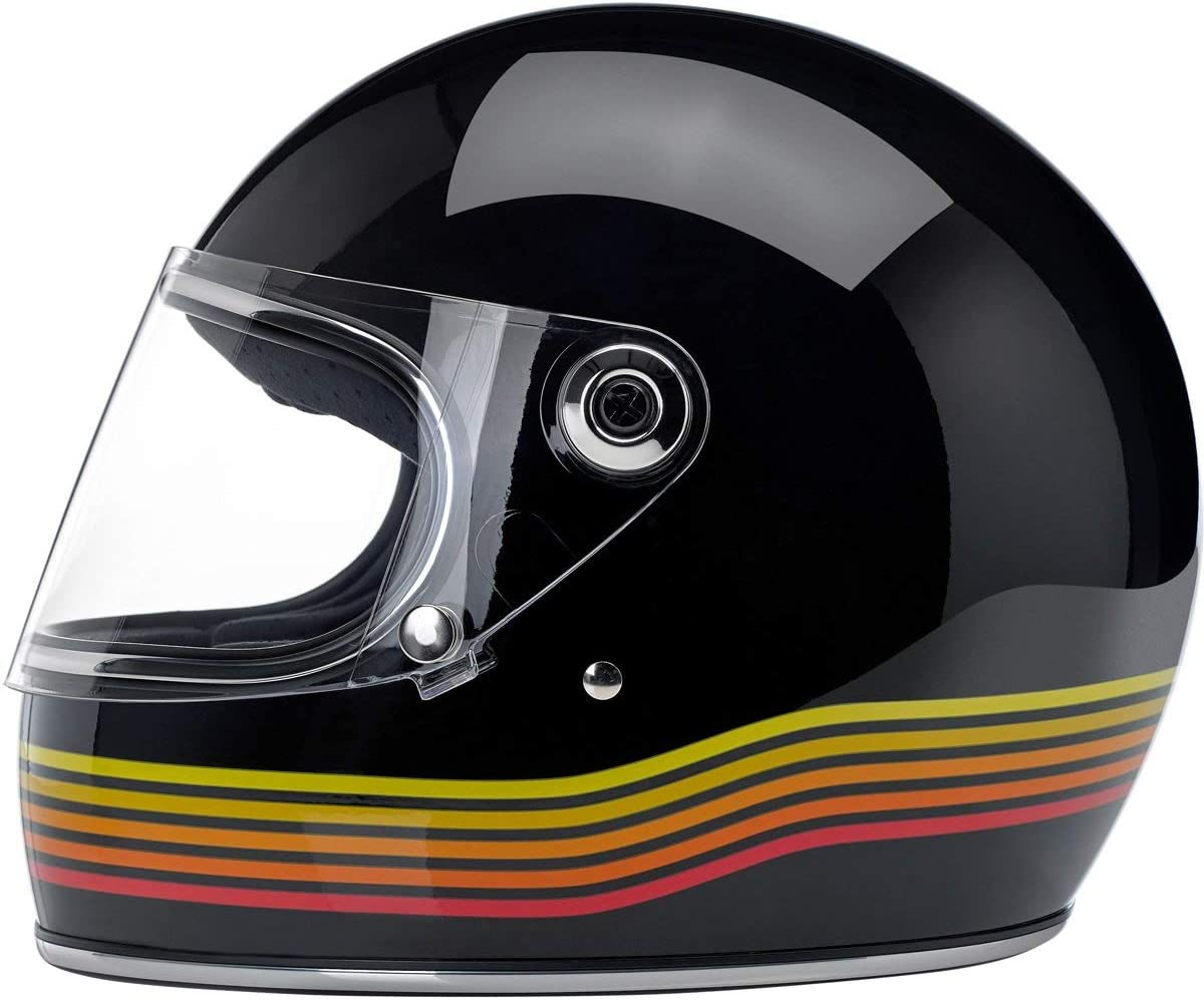 Helmet Biker Custom Vintage Retro Anno 70 Gr/ö/ße XL America Europa Integralhelm Biltwell Gringo S Schwarz gl/änzend Gloss Black Spectrum zugelassen Doppelt zugelassen ECE /& DOT