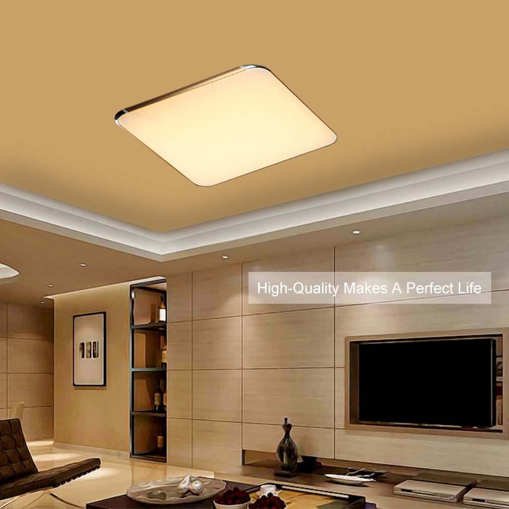Floureon 56W LED Ceiling Light With 2.4G Wireless Remote Control Dimming  Flush Mount Light Suitable For Living Room,Dinning Room (Gold): Amazon.co.uk:  ... Part 39