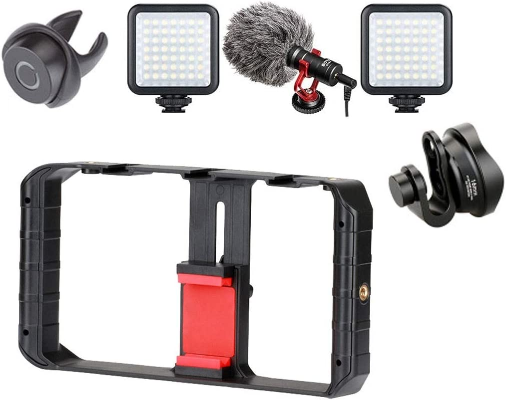 Size : B Tripod Heads Stabilizer Phone Smartphone Video Case Phone Rig Handheld Smartphone Stabilizer Live Stream YouTube Mobile stabilizer