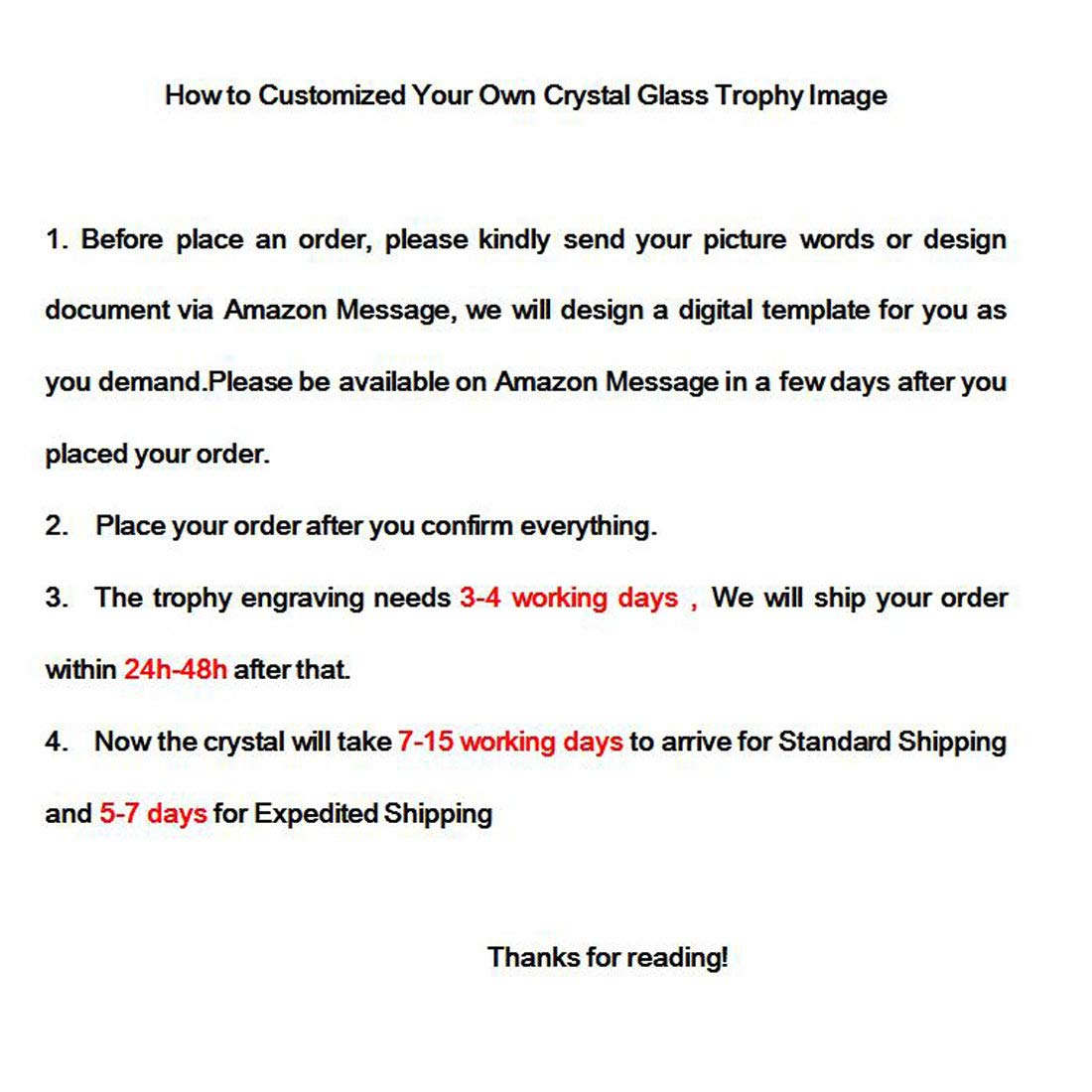 H/&D Etched Engraving Crystal Trophy Award Customization Glass Paperweight