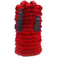 """Garden Hose, Water Hose, Lightweight Expandable Garden Hose with 3/4"""" Solid Fittings, Double Latex Core, Extra Strength Fabric, Flexible Expanding Hose for Outdoor Lawn Car Watering Plants Red"""