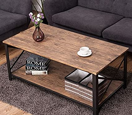Ku0026A Company Coffee Table Rectangular Glass Modern Mid Century French Vintage  Wood Accent With Bottom Shelf