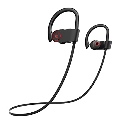 0ff7d954277 COULAX Bluetooth Headphones IPX7 Wireless Headphones with Mic Sports  Headsets Waterproof Earbuds for iPhone 7 Samsung