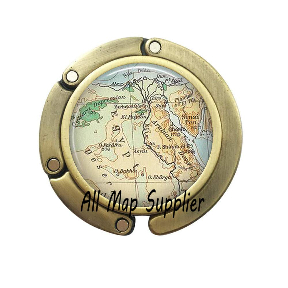 2 Charming Purse Hook,Egypt map Bag Hook Charm,Egypt Purse Hook Resin Bag Hook,Egypt map Jewelry,Egyptian Jewelry,Egypt map Purse Hook,A0315