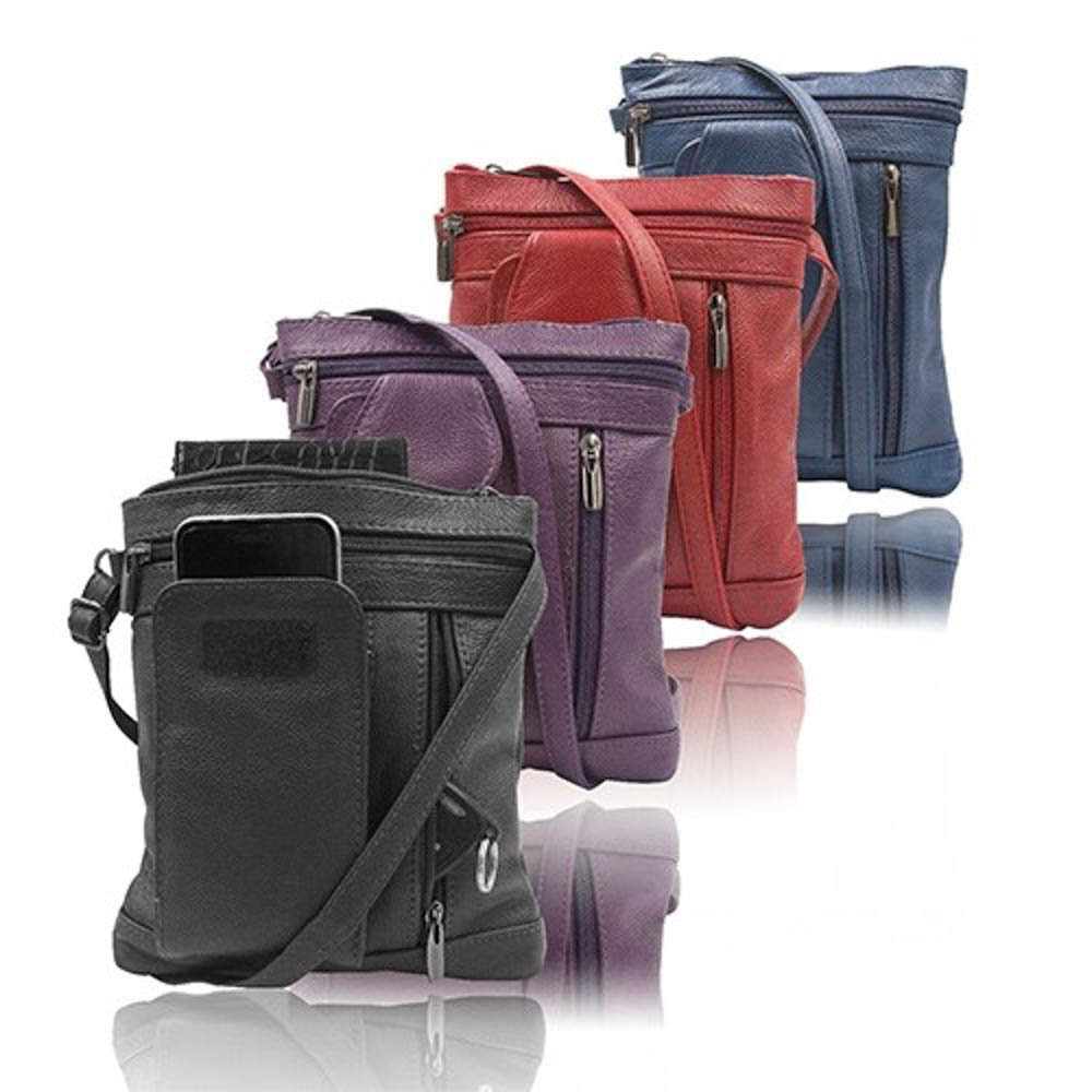 """On-the-Go"" Soft Leather Crossbody Bag – 6 Styles"
