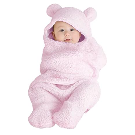 Luerme Manta de bebé Swaddle Saco de dormir Split Pierna Fleece grueso Manta de bebé para