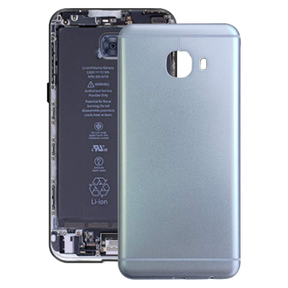 YXC Compatible Back Cover Back Battery Door Back Cover for Galaxy C5(Grey) Smartphone Replacement Parts OEM Original Replacement Parts Accessories (Color : Grey) by YXC