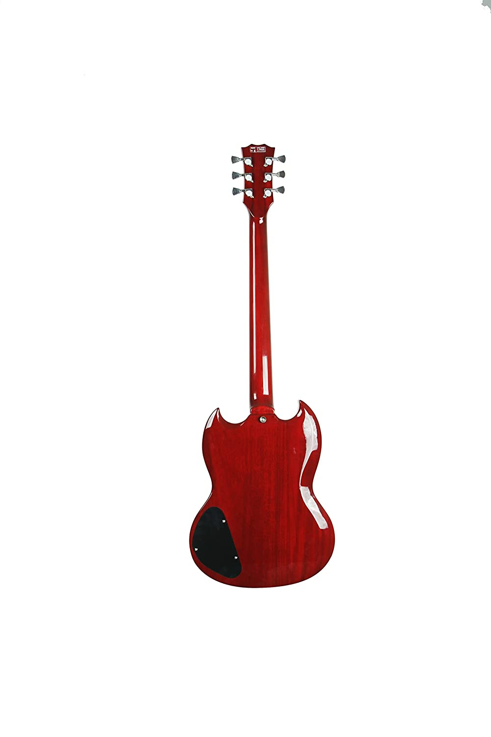 Amazon.com: ivy ISGV-200 Vibrato SG Solid-Body Electric Guitar, Cherry Red: Musical Instruments