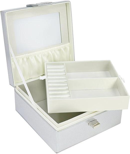 com-four® Joyero con Espejo y Compartimiento extraíble ...