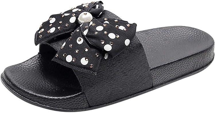 Qingsiy Chanclas Mujer Romanas Verano Mujer Estilo Bohemia Zapatos Zapatillas Arco para Mujer de Dedo Sandalias Tallas Grandes Casuales de Playa Chanclas de Plataforma de Chancletas