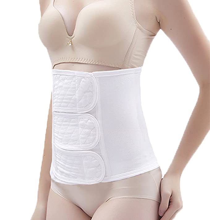 f14981235 Shengxuan Women Postpartum Girdle Corset Recovery Belly Wrap Band Belt  (White
