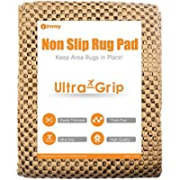 Premium Extra Thick Non Slip Rug Runner Large Pad Gripper for Any Hard Surface Floor, Keeps Your Rugs Safe  and in Place - 6x9 ft