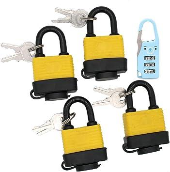 4 waterproof padlocks padlock keys lock security