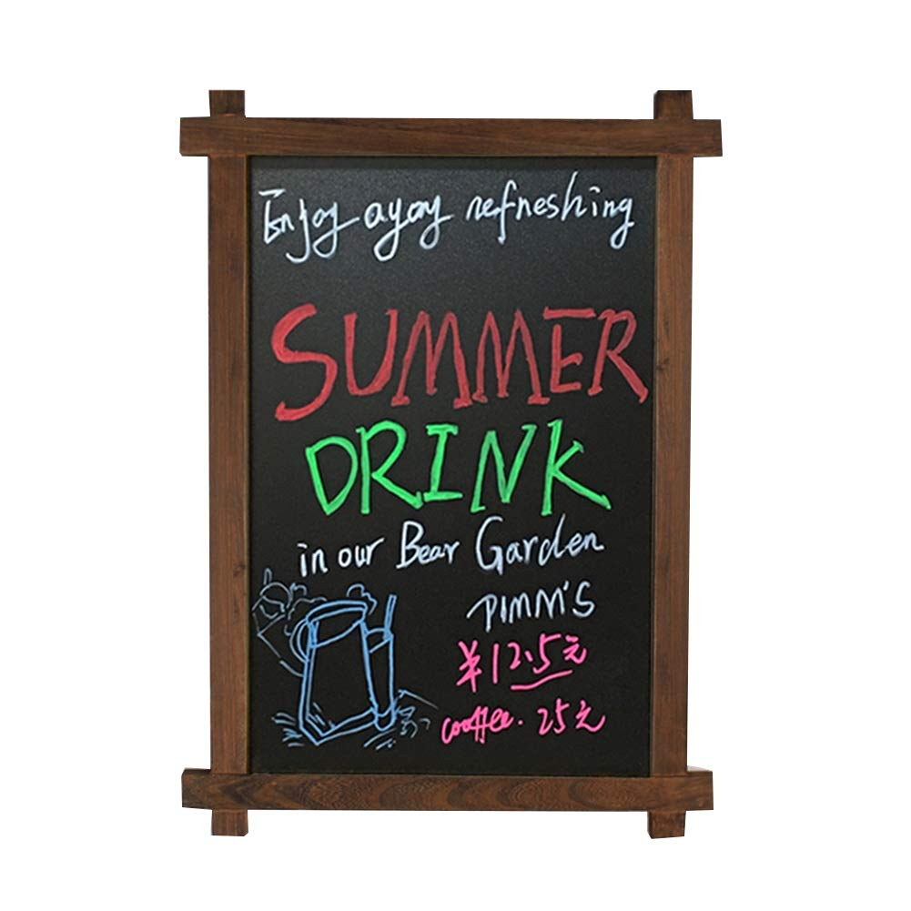 CHAOXIAN Message Board Chalkboards Wall-Mounted Spray Paint Do The Old Shop Restaurant Menu Board Note Board, 2 Colors (Color : A, Size : 50X70CM)